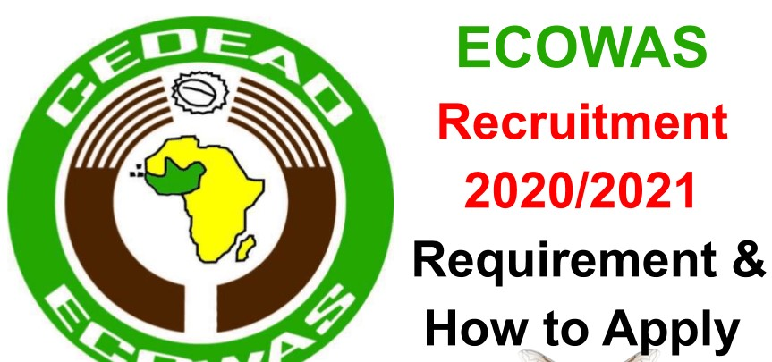 ECOWAS Recruitment 2020/2021 Official Portal Update: How To Apply.