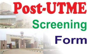 FUNAAB Post UTME Screening Form
