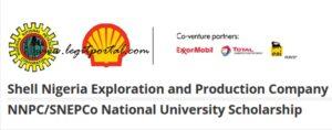 NNPC/SNEPCo National University Scholarship