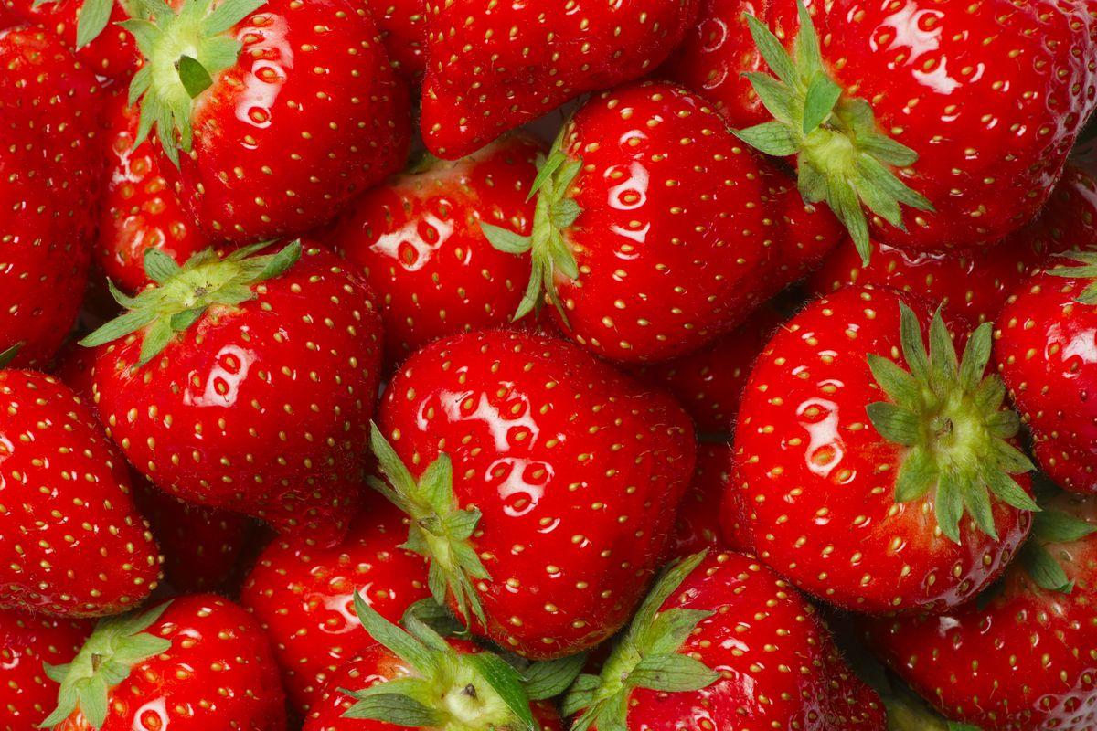 Strawberries In Salt Water.