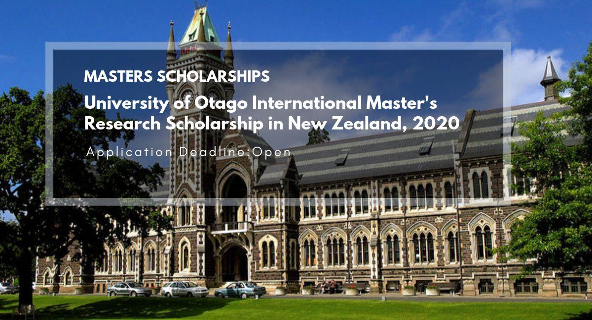 University of Otago Master Scholarships