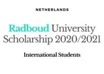 Radboud University Scholarship