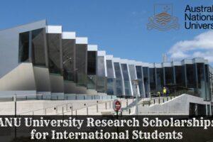 ANU Scholarships Application