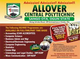 Allover Central Polytechnic Courses, School Fees and Requirements