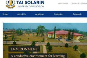 Tai Solarin University of Education Courses and School Fees