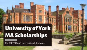 University of York Scholarship