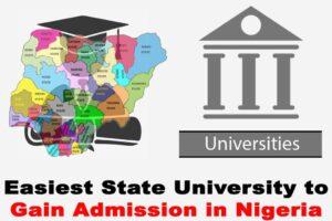 Easiest Universities To Gain Admission In Nigeria