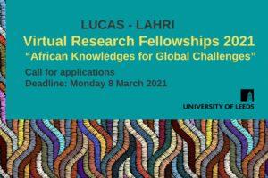 LUCAS-LAHRI Virtual Research Fellowships