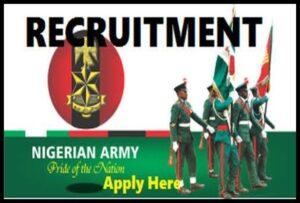 Nigerian Army RecruitmentForm 2021