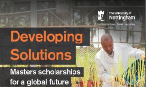 University of Nottingham Masters Scholarships