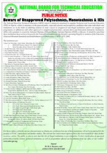 Illegal Polytechnics and Universities In Nigeria